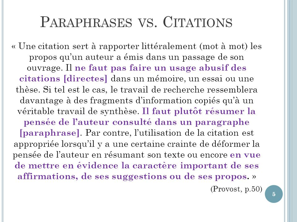 Paraphrases vs. Citations