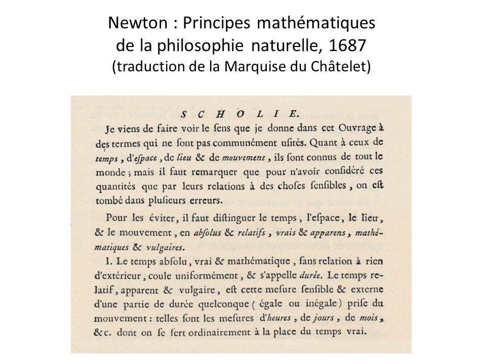 Newton : Principes mathématiques de la philosophie naturelle, 1687