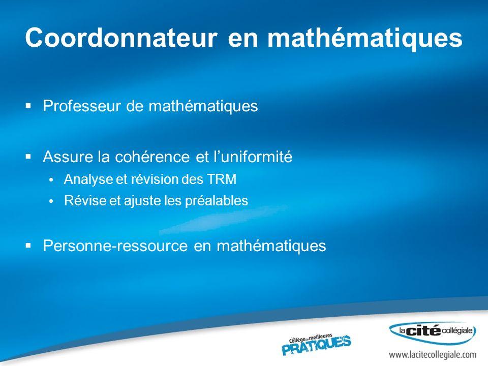 Coordonnateur en mathématiques