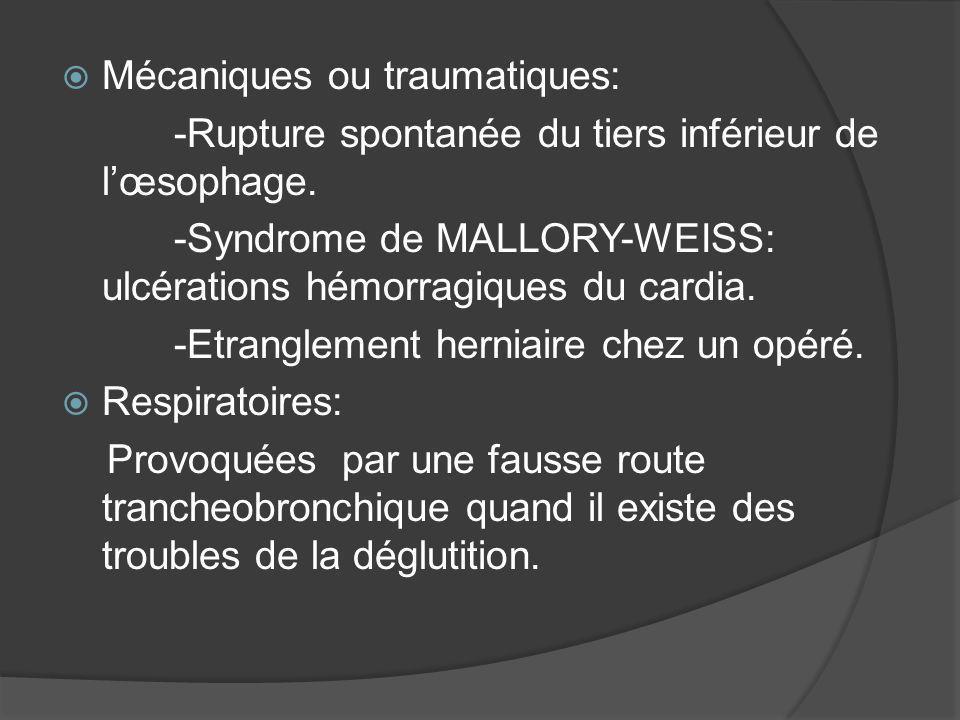 Mécaniques ou traumatiques: