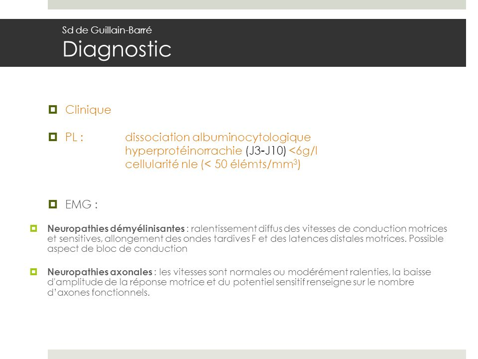 PL : dissociation albuminocytologique