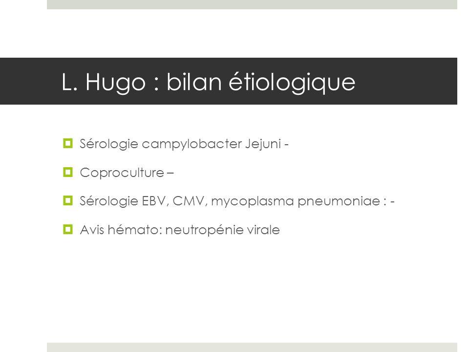 L. Hugo : bilan étiologique