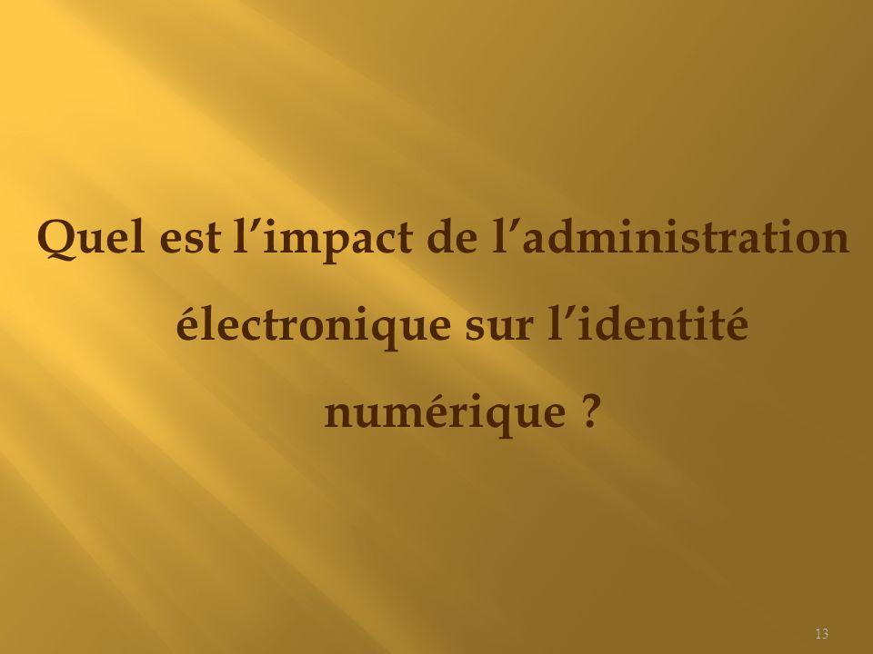 Quel est l'impact de l'administration électronique sur l'identité numérique