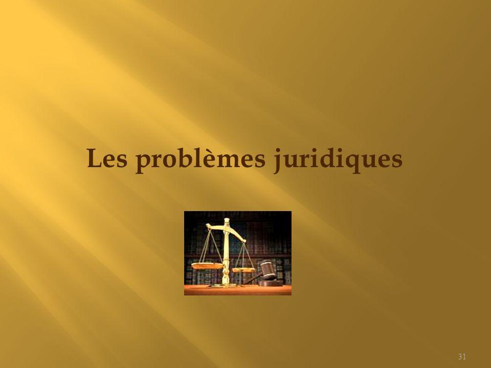 Les problèmes juridiques