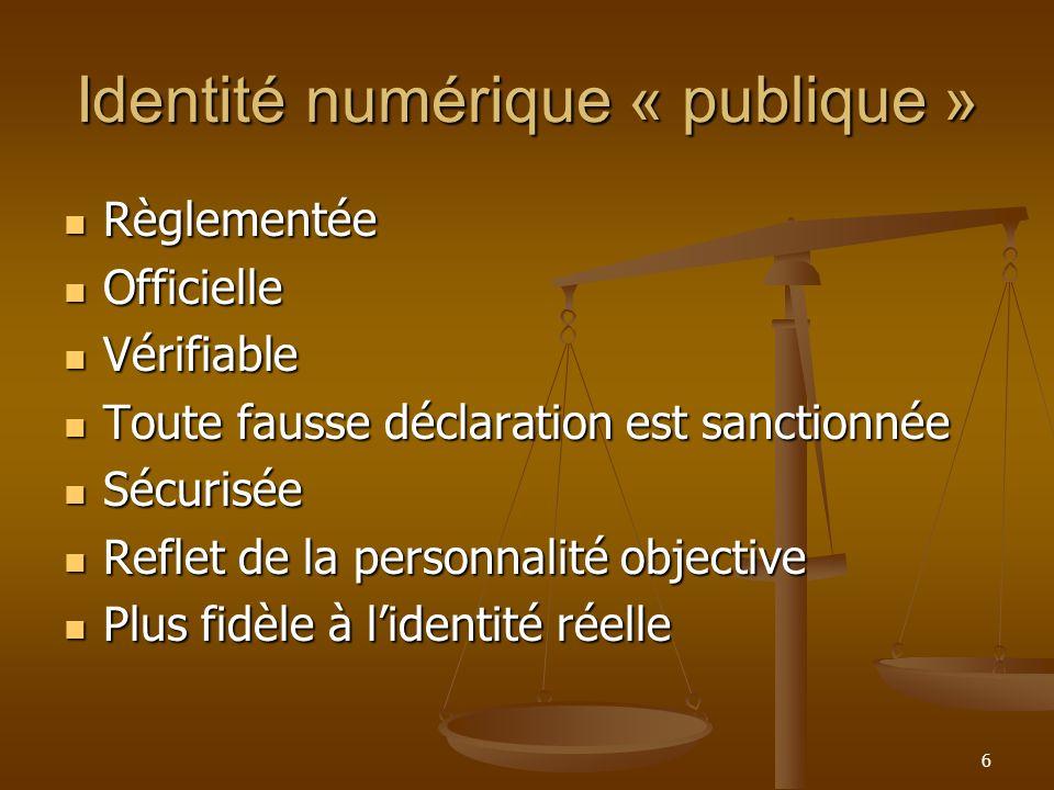 Identité numérique « publique »