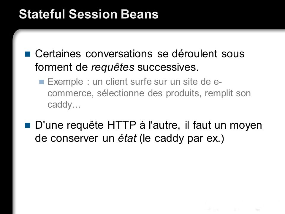 Stateful Session Beans