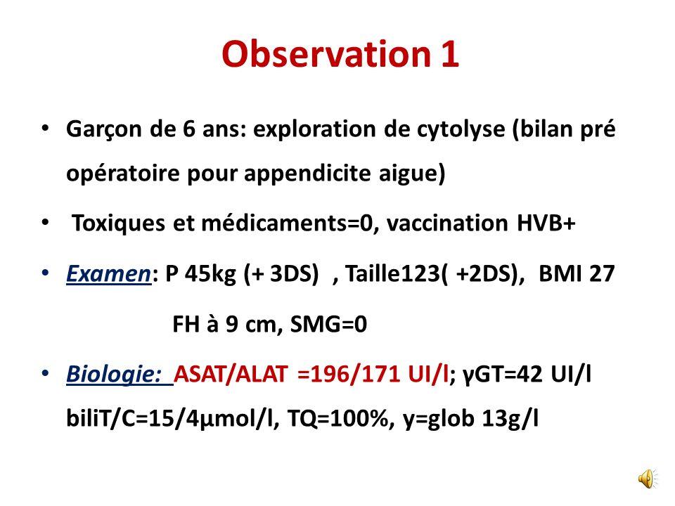 Observation 1 Garçon de 6 ans: exploration de cytolyse (bilan pré opératoire pour appendicite aigue)
