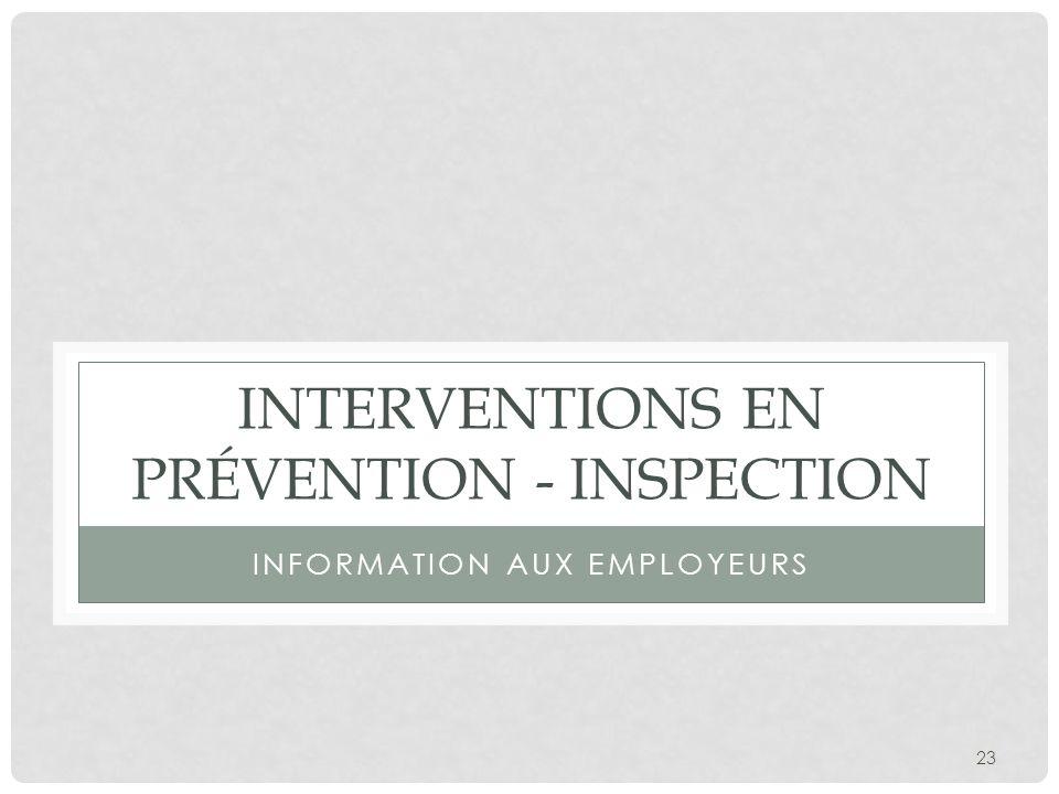 Interventions en prévention - inspection