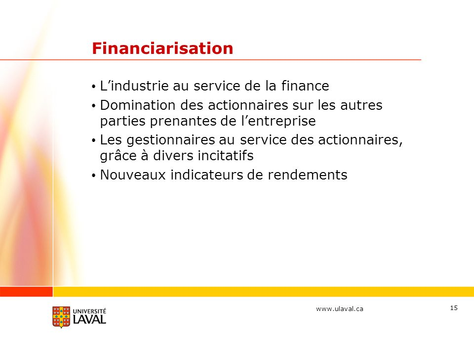 Financiarisation L'industrie au service de la finance