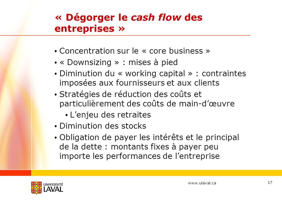 « Dégorger le cash flow des entreprises »