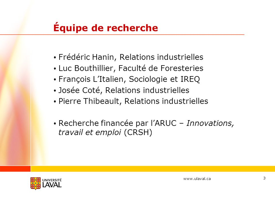 Équipe de recherche Frédéric Hanin, Relations industrielles