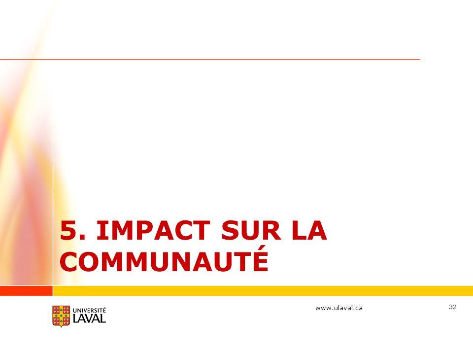 5. Impact sur la communauté