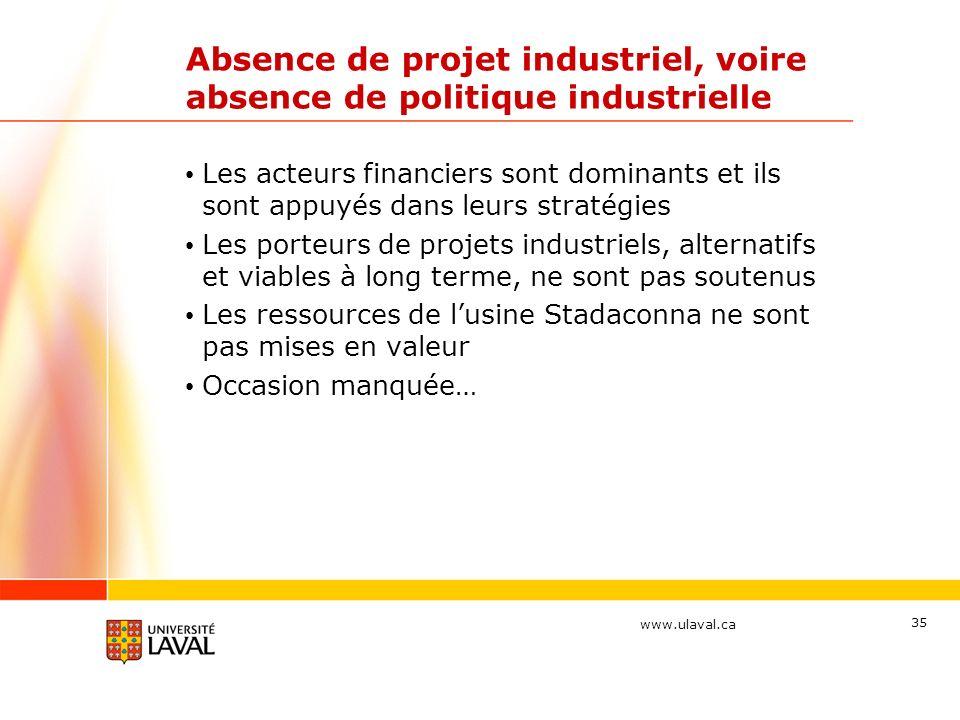 Absence de projet industriel, voire absence de politique industrielle