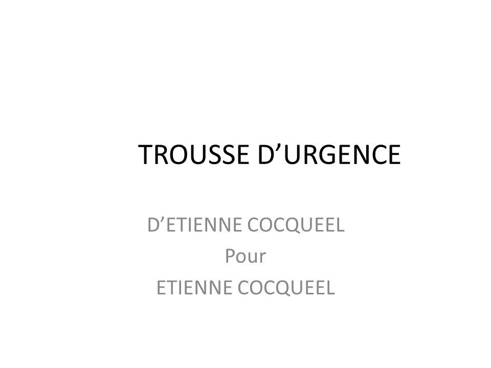 D'ETIENNE COCQUEEL Pour ETIENNE COCQUEEL
