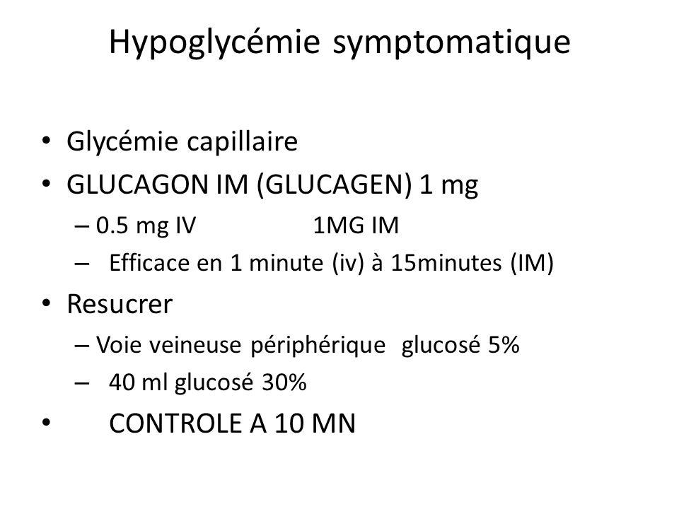 Hypoglycémie symptomatique