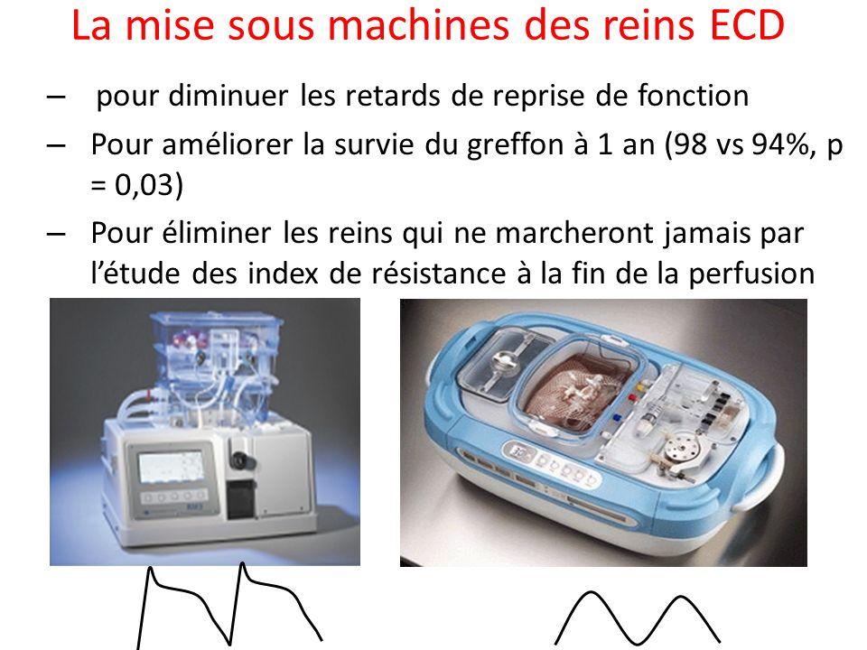 La mise sous machines des reins ECD
