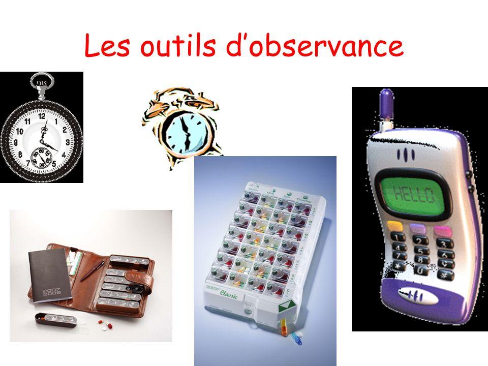 Les outils d'observance