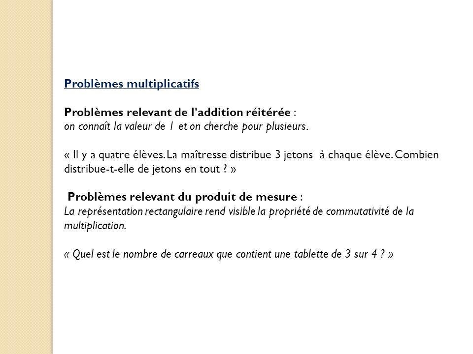 Problèmes multiplicatifs