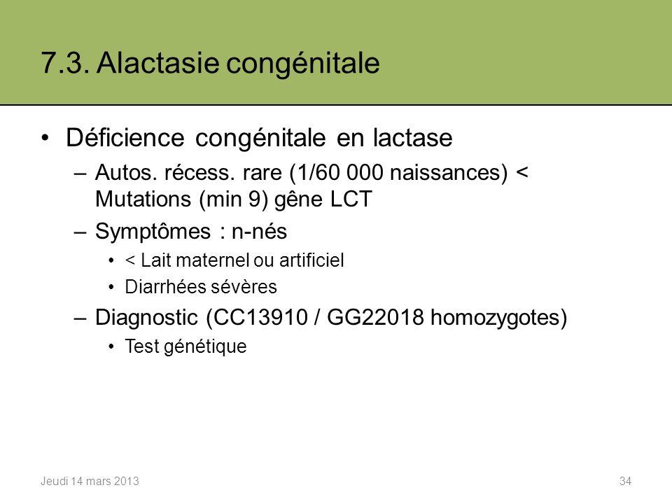 7.3. Alactasie congénitale