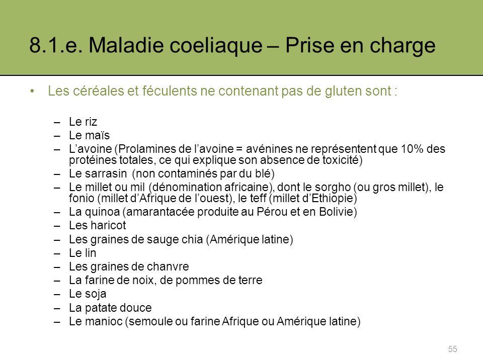 8.1.e. Maladie coeliaque – Prise en charge