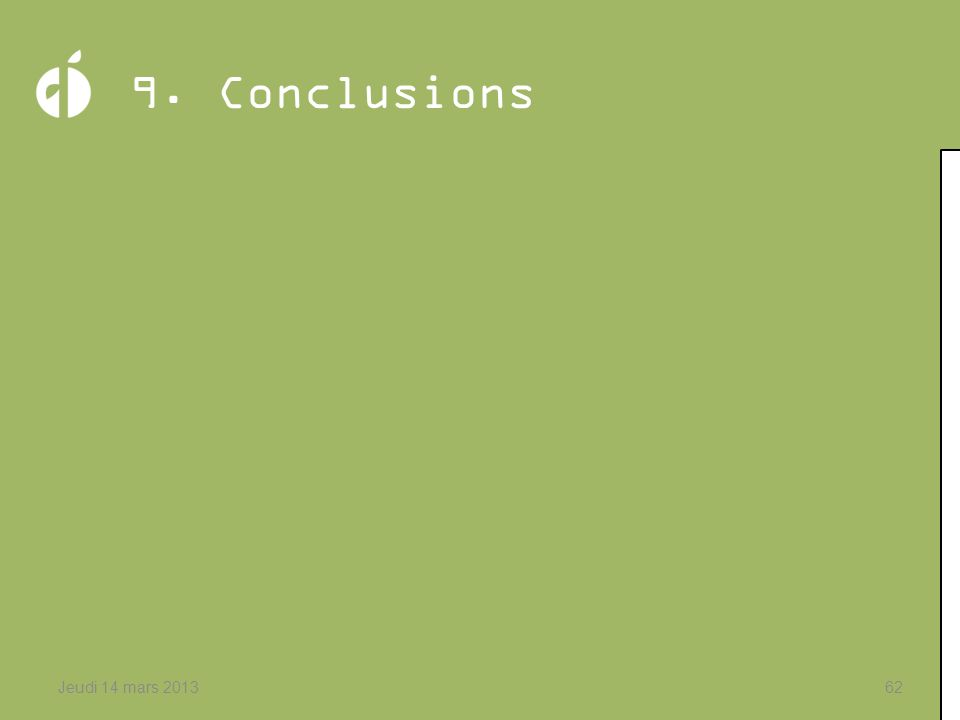 9. Conclusions Jeudi 14 mars 2013