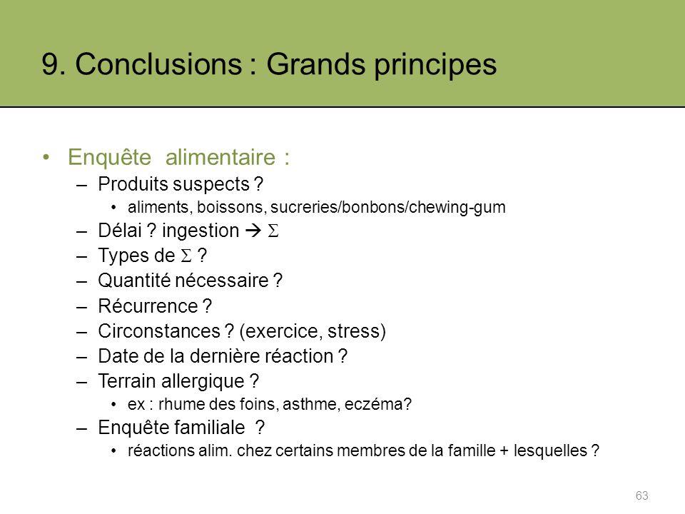 9. Conclusions : Grands principes