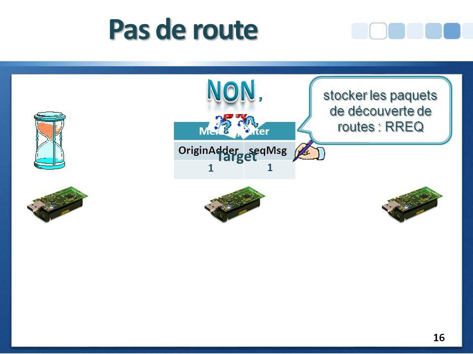 stocker les paquets de découverte de routes : RREQ