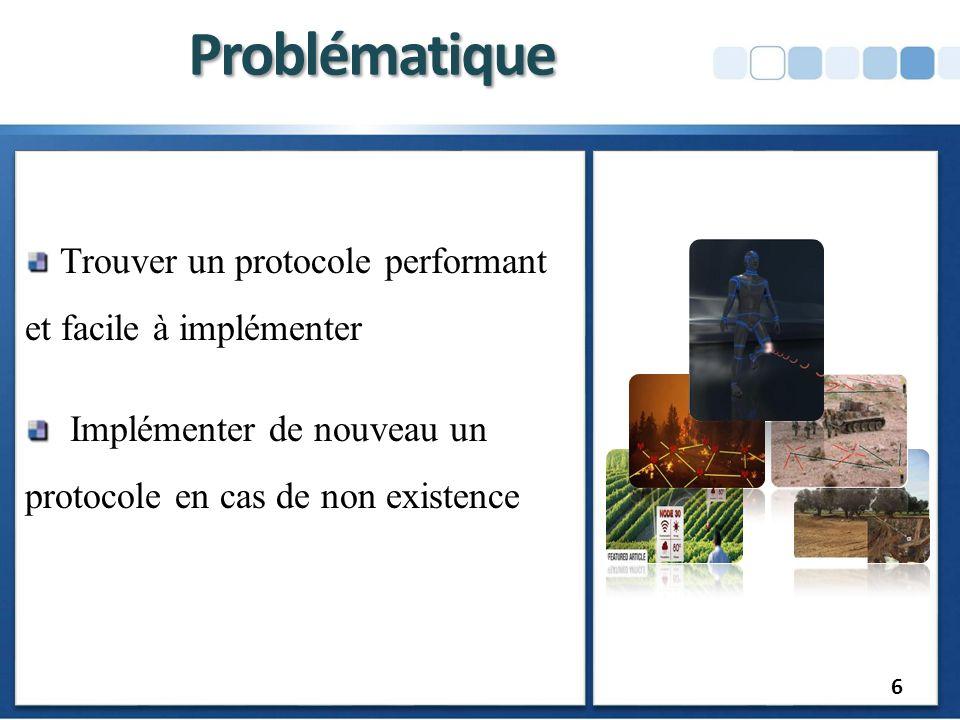 Problématique Trouver un protocole performant et facile à implémenter