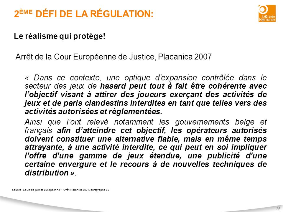 2ème défi de la régulation: