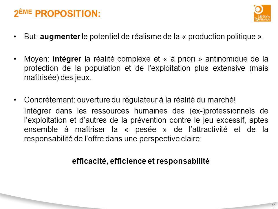 efficacité, efficience et responsabilité