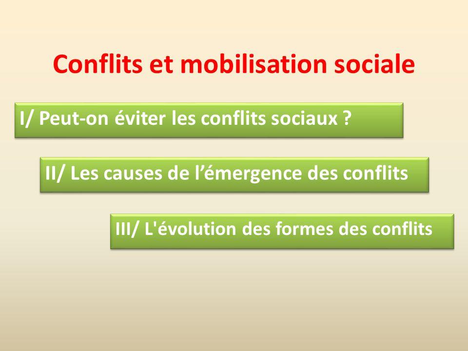 Conflits et mobilisation sociale