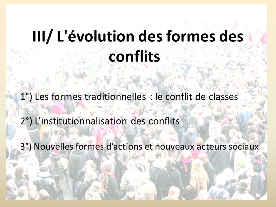 III/ L évolution des formes des conflits