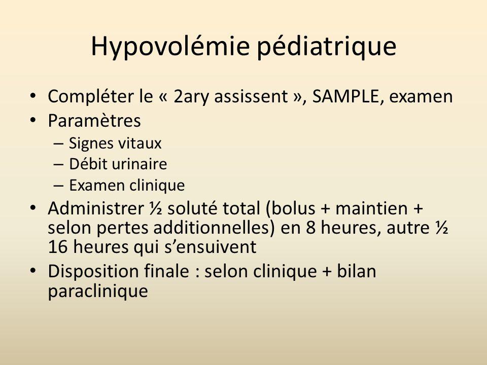 Hypovolémie pédiatrique