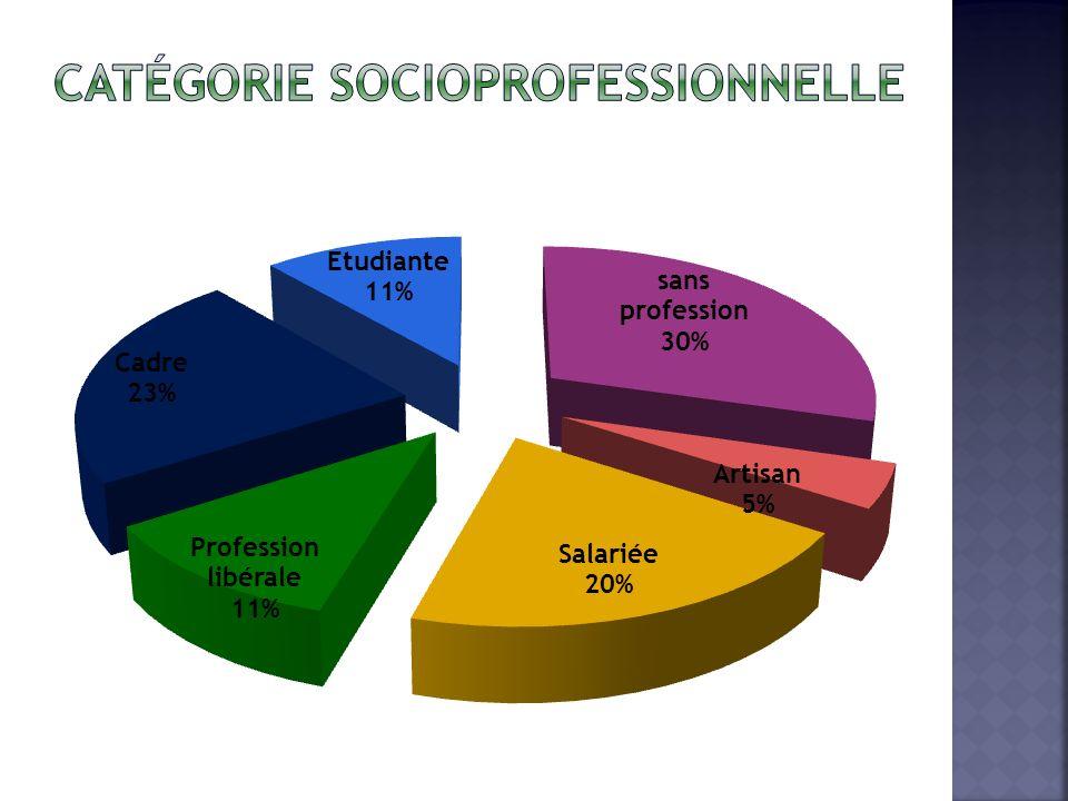 Catégorie socioprofessionnelle