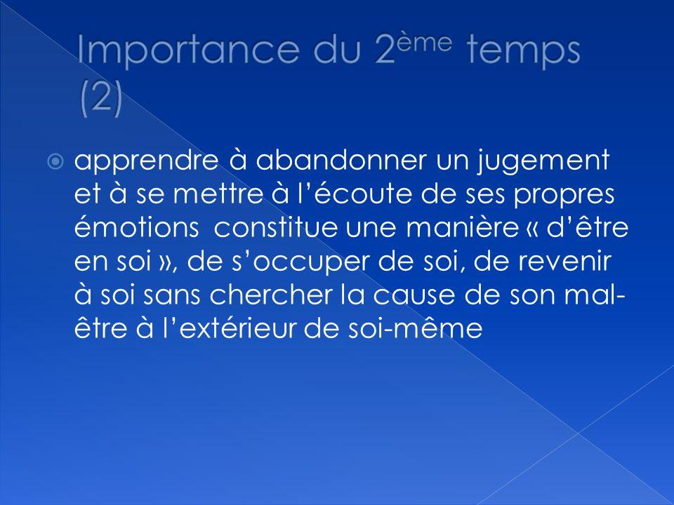 Importance du 2ème temps (2)