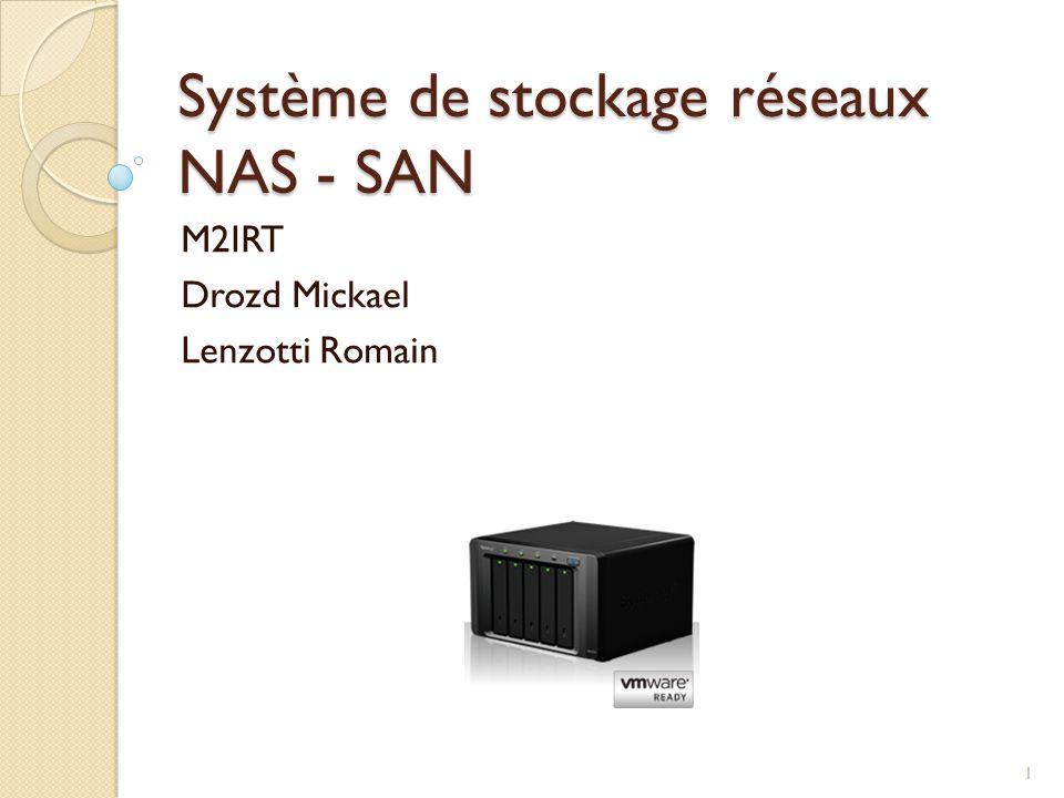 Système de stockage réseaux NAS - SAN