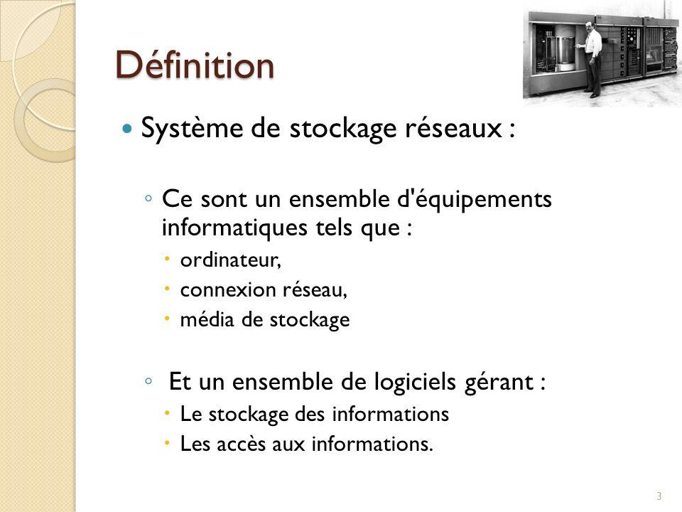 Définition Système de stockage réseaux :