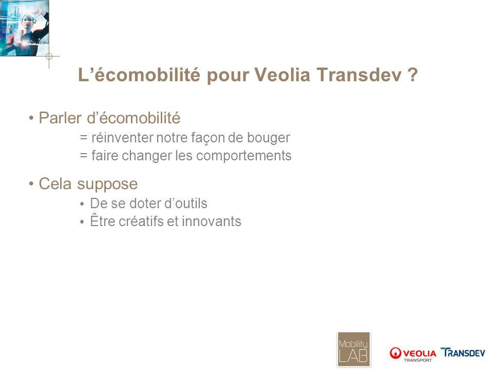L'écomobilité pour Veolia Transdev