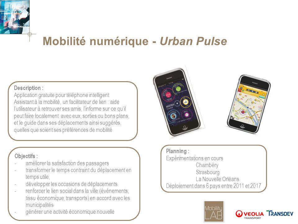 Mobilité numérique - Urban Pulse