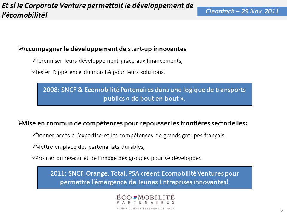 Et si le Corporate Venture permettait le développement de l'écomobilité!