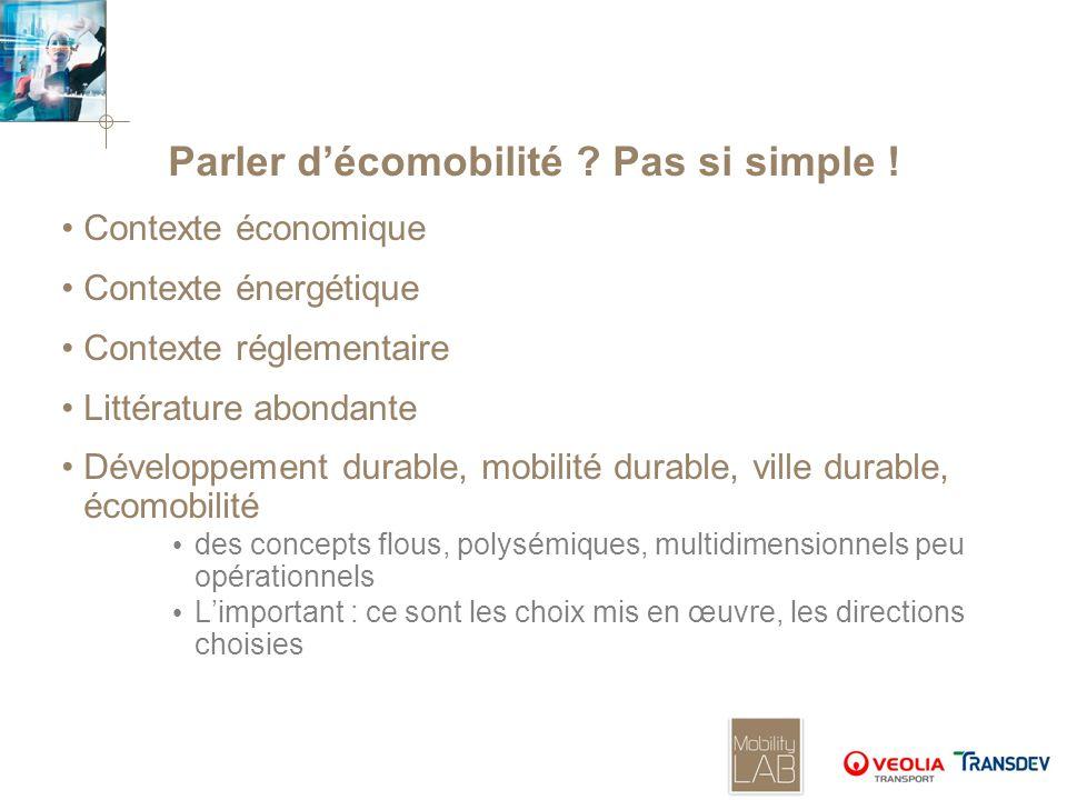 Parler d'écomobilité Pas si simple !