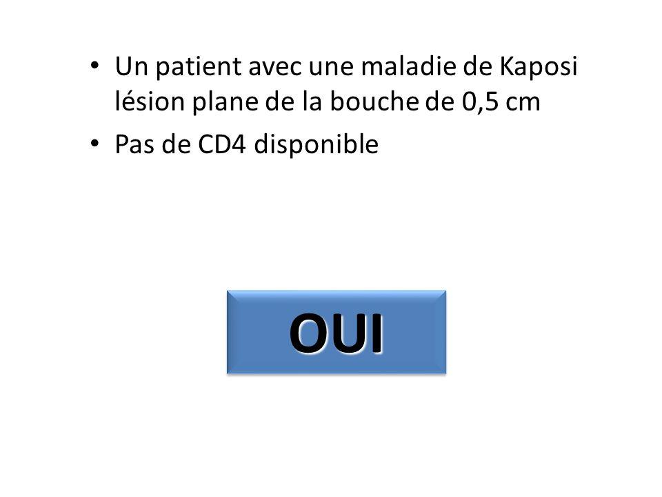 Un patient avec une maladie de Kaposi lésion plane de la bouche de 0,5 cm