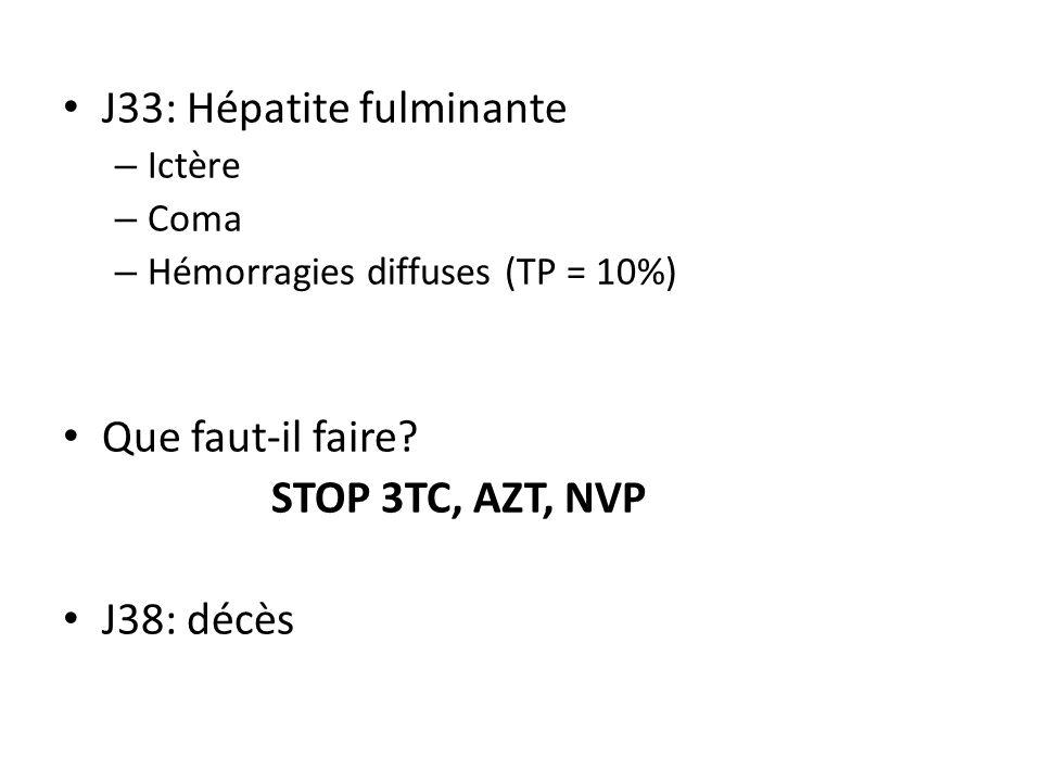 J33: Hépatite fulminante