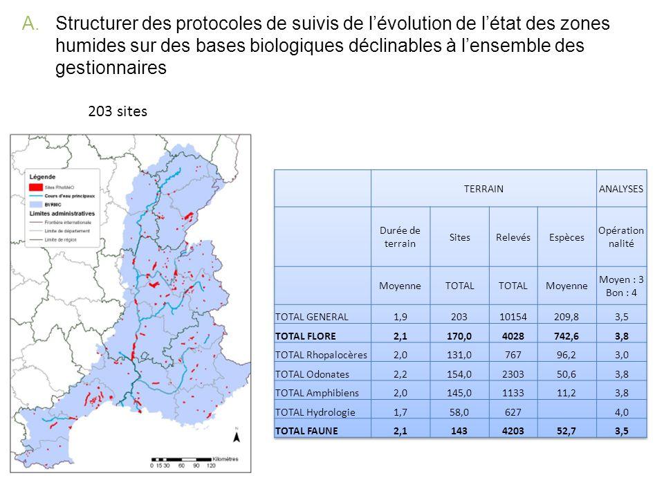 Structurer des protocoles de suivis de l'évolution de l'état des zones humides sur des bases biologiques déclinables à l'ensemble des gestionnaires