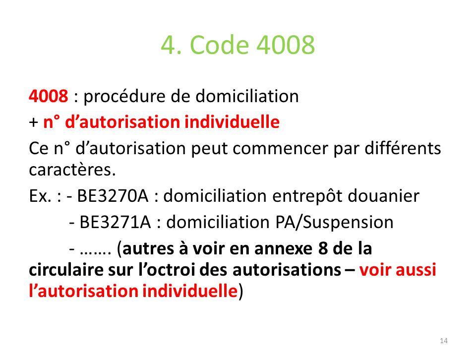4. Code 4008