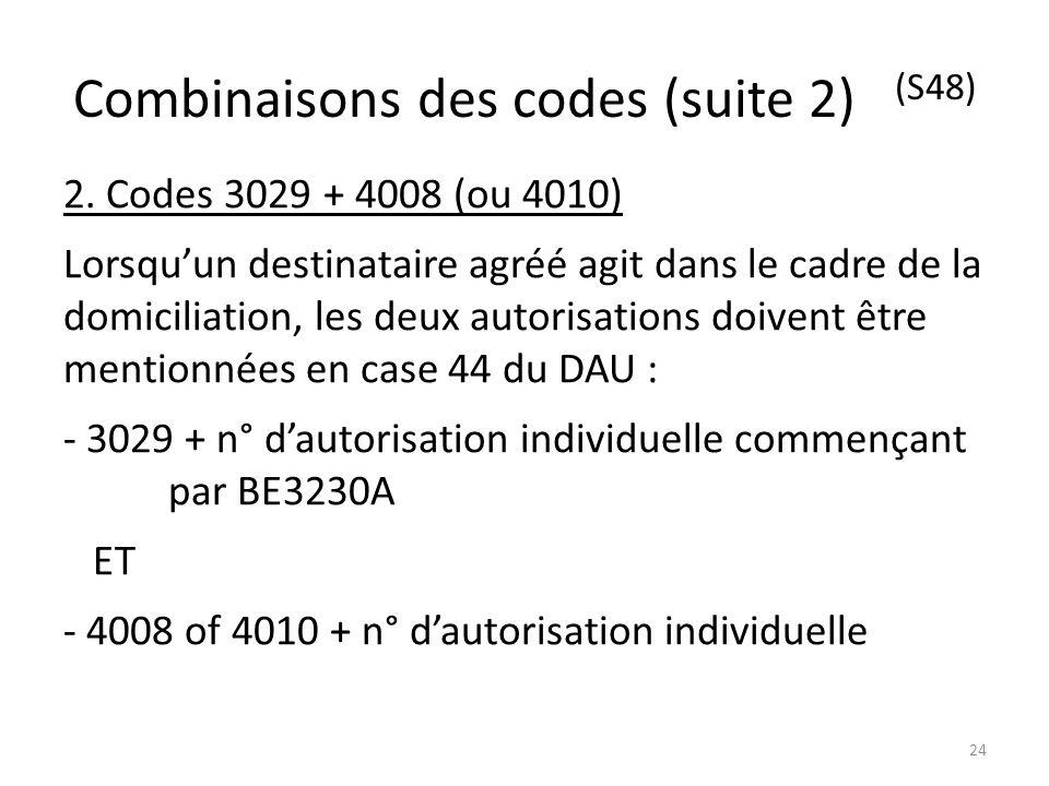 Combinaisons des codes (suite 2) (S48)