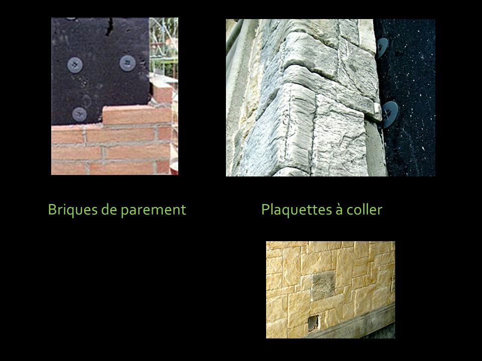 Briques de parement Plaquettes à coller
