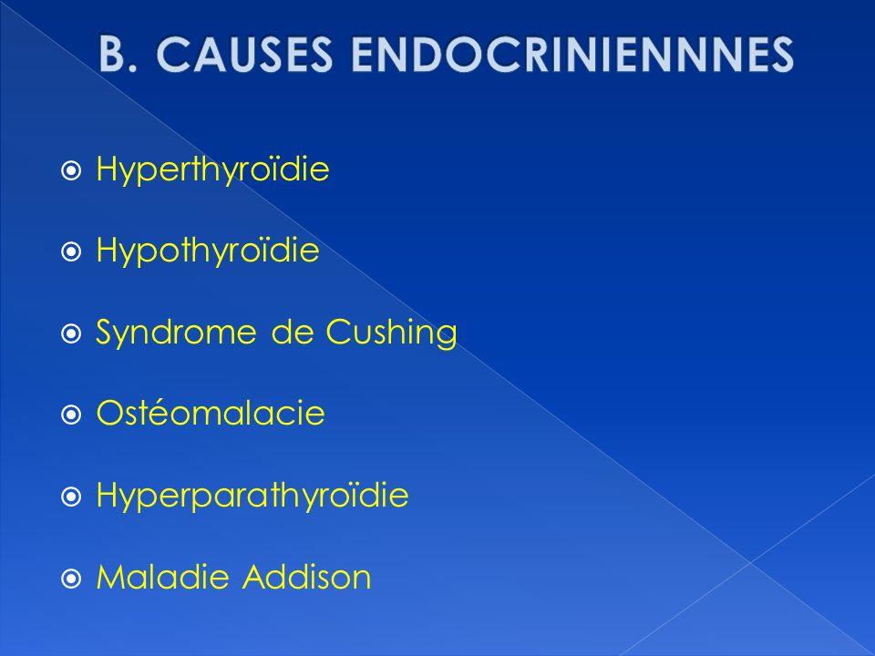 B. CAUSES ENDOCRINIENNNES