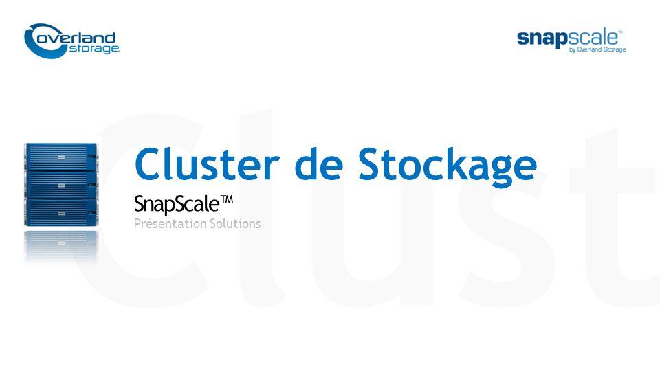 Clust Cluster de Stockage SnapScale™ Présentation Solutions