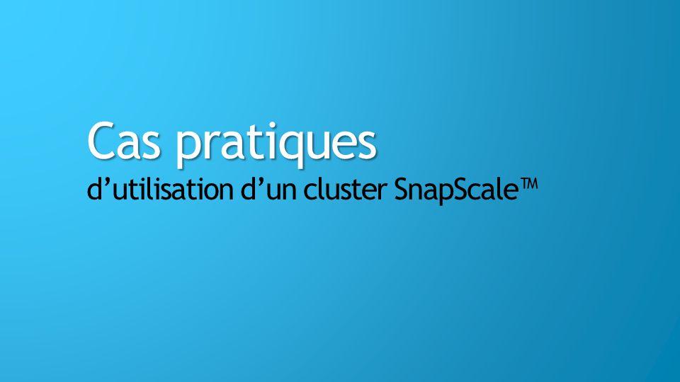 Cas pratiques d'utilisation d'un cluster SnapScale™